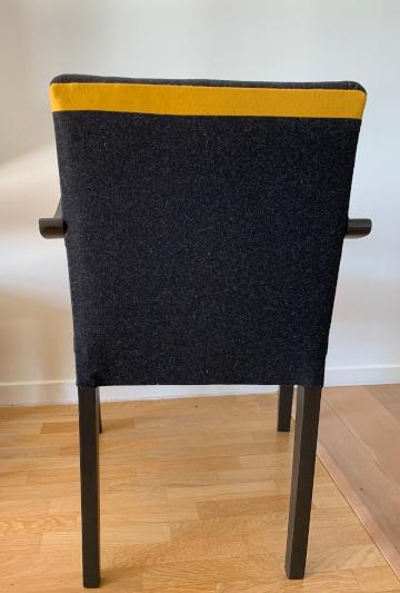 brigde tissus laine gris et jaune